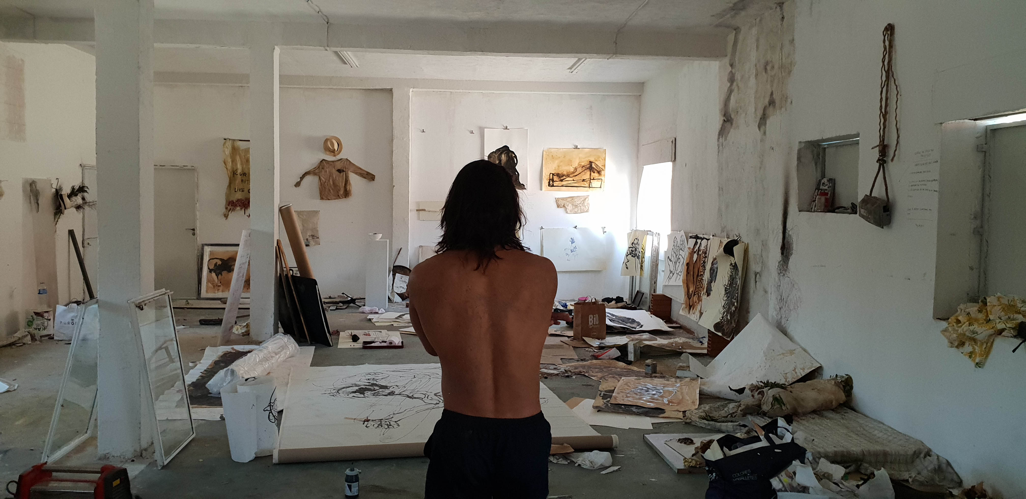 Andreas en su estudio en Zapadores