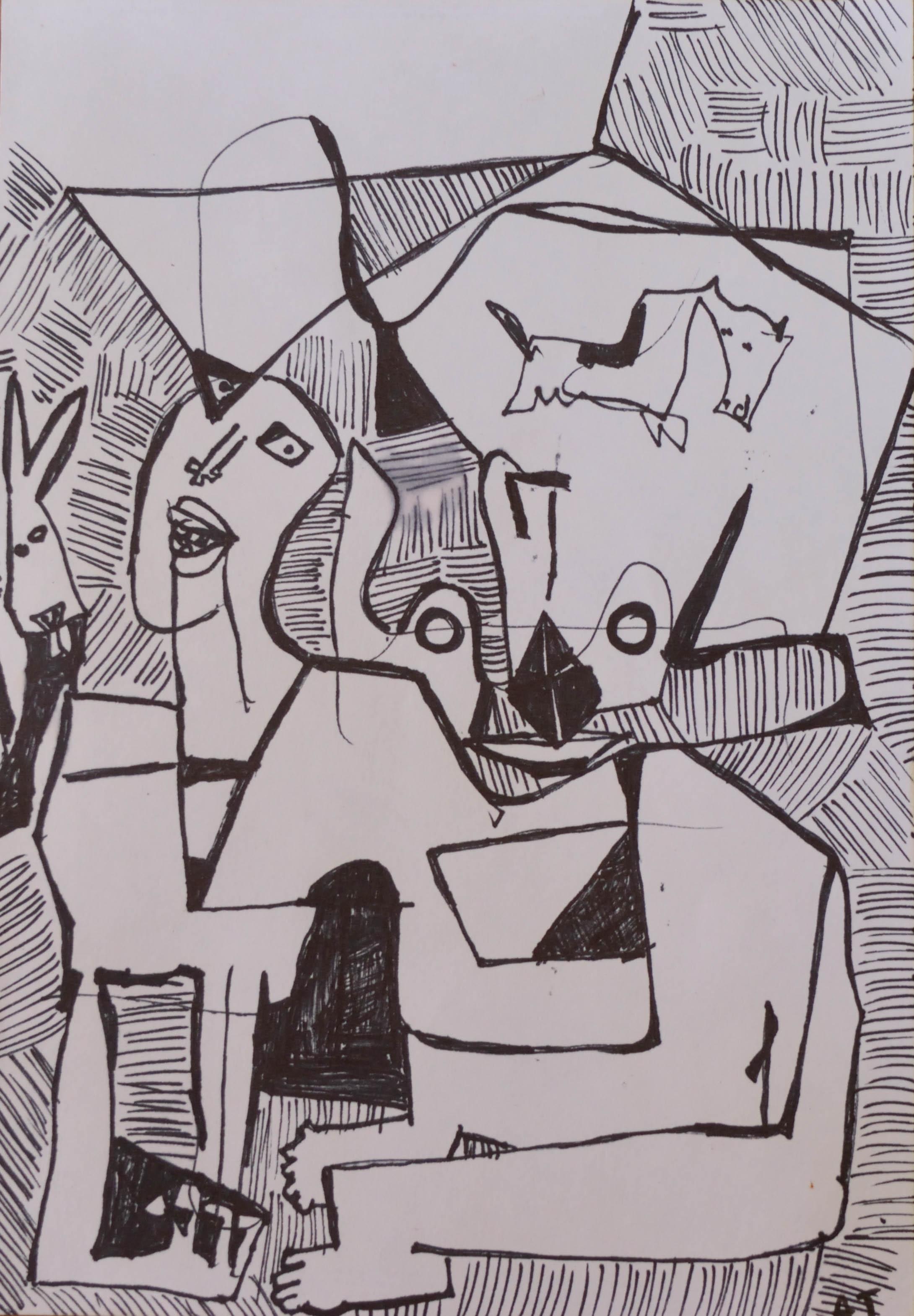 Iconos- Acrílico sobre papel- 44 x 34 cm